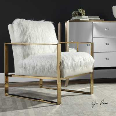 Delphine White Accent Chair - Hudsonhill Foundry