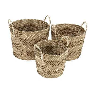 Seagrass 3 Piece Basket Set - Birch Lane