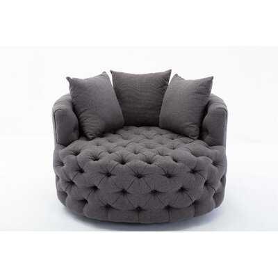 Flatiron Swivel Barrel Chair - Wayfair