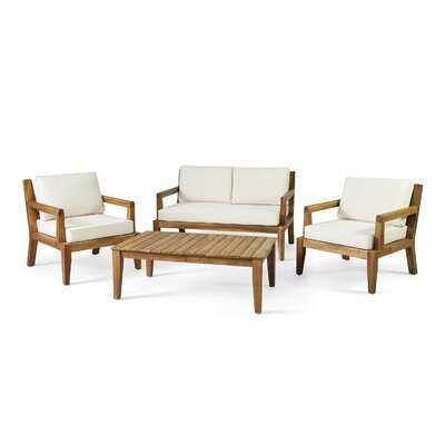 Briarmeade 4 Piece Sofa Seating Group with Cushions - Wayfair