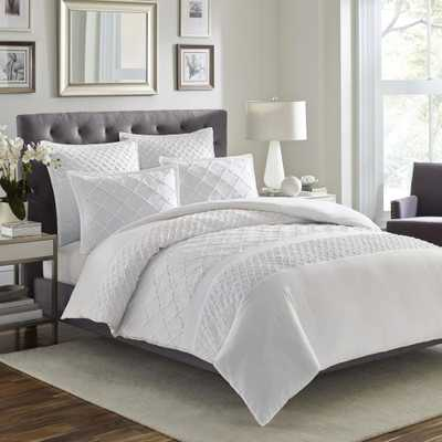 Stone Cottage Mosaic 3-Piece White Full/Queen Duvet Cover Set - Home Depot