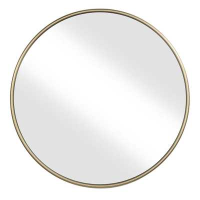 "Martin Svensson Home 36"" Gold Framed Round Wall Mirror - Home Depot"