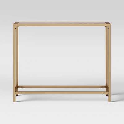 Greenwich Narrow Glass Top Console Brass - Threshold , Gold - Target