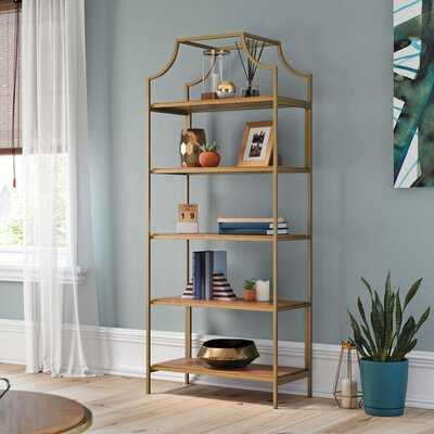 Damon Metal Etagere Bookcase - Wayfair