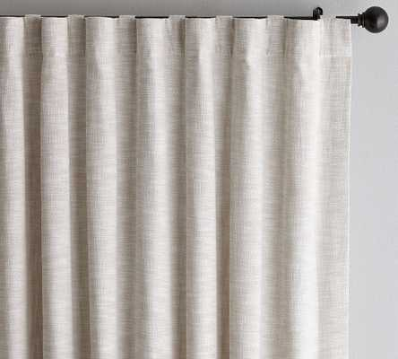 "Seaton Textured Cotton Rod Pocket Curtain, 100 x 108"", Neutral - Pottery Barn"