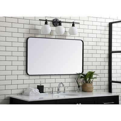 Rosenblatt Soft Corner Metal Accent Mirror - Wayfair