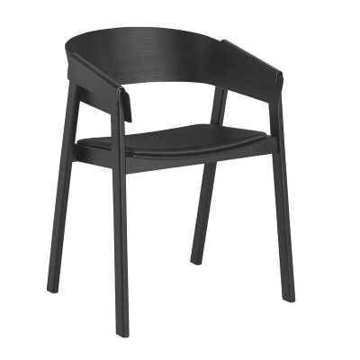Muuto Cover Chair Color: Refine Leather - Black/Black - Perigold