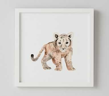 Lion Nursery Animal Art - Pottery Barn Kids