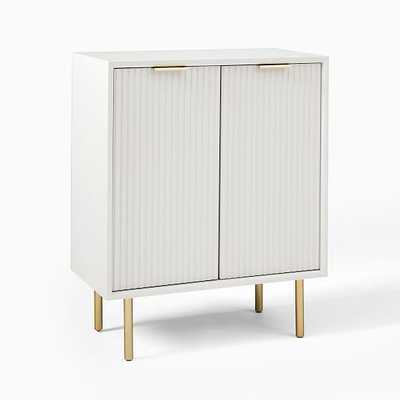 Entry Cabinet, White & Brass - West Elm