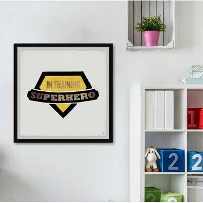 Dade 'Superhero in Training Badge' Framed Art - Wayfair