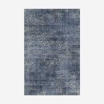 Ornate Silhouette Rug, Midnight, 9'x12' - West Elm
