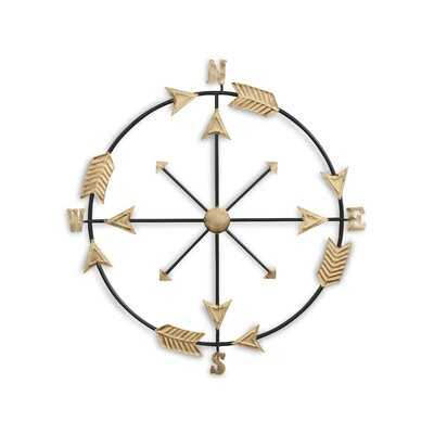 Oden Compass Arrow Accent Wall Décor - Birch Lane