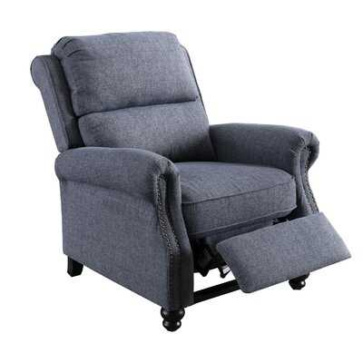 Recliner Chair, Arm Chair Push Back Recliner With Rivet Decoration, Navy - Wayfair