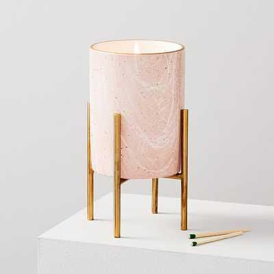 Marbled Ceramic on Stand, Medium, Set of 2 - West Elm