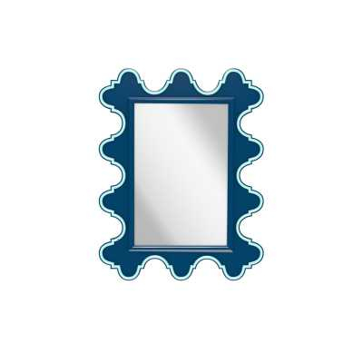Oomph Easton Accent Mirror Color: NY Blue, Accent: Gold - Perigold