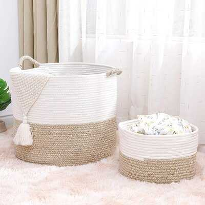 2 Piece Fabric Basket Set - Wayfair
