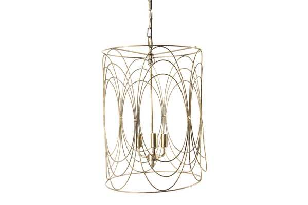 "24"" Pendant Light with Wire Swirl - Nomad Home"