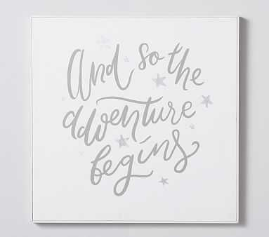 Adventure Begins Canvas Framed Art - Pottery Barn Kids