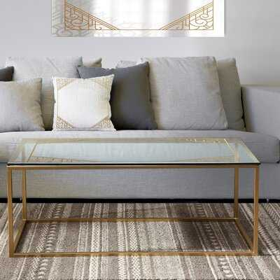 Designart 'Marble Gold And Black Ii' Glam Coffee Table - Wayfair