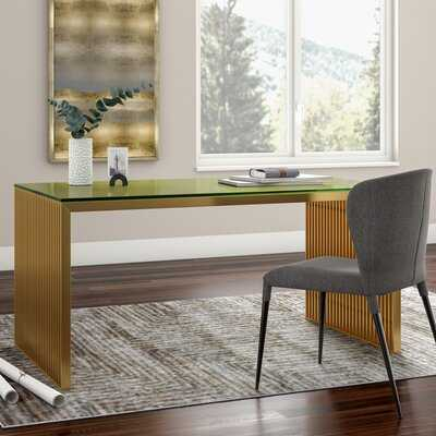 Gunnar Glass Desk - Wayfair