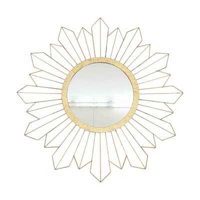 "Metal 31"" Sunburst Mirror, Gold Wb - Wayfair"