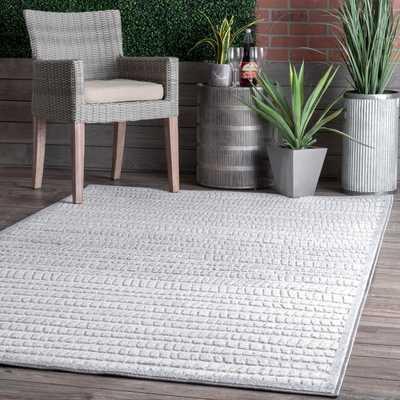 Danna Raised Striped Indoor/Outdoor Area Rug - Loom 23
