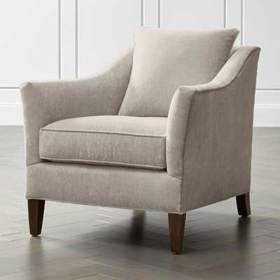 Keely Chair-Leg:Pecan - Crate and Barrel