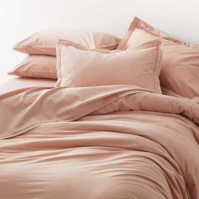 Mellow Blush Organic Cotton King Duvet Cover - Crate and Barrel