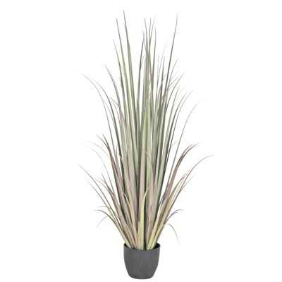 "Gladiolus 53"" Artificial Snake Plant Grass in Pot - Wayfair"