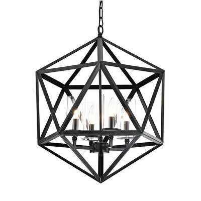 Schrader 4 - Light Lantern Geometric Chandelier - Wayfair