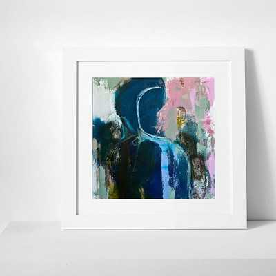 """Print of an original painting by Yvette, 18""""x18"""", White Frame & Mat - West Elm"""