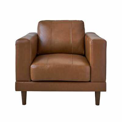 """Hanson 37"""" W Cowhide Armchair - Wayfair"""