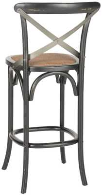 Eleanor X Back Bar Stool - Distressed Hickory/Medium Brown - Arlo Home - Arlo Home