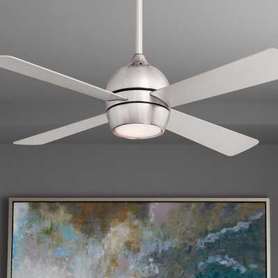 "44"" Fanimation Kwad Brushed Nickel LED Ceiling Fan - Style # 83T51 - Lamps Plus"