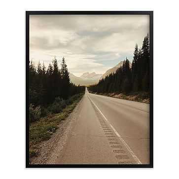 "Road Less Traveled, Full Bleed 16""x20"", Black Wood Frame - West Elm"