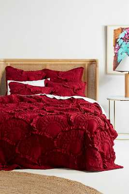 Rivulets Quilt By Anthropologie in Purple Size Q top/bed - Anthropologie