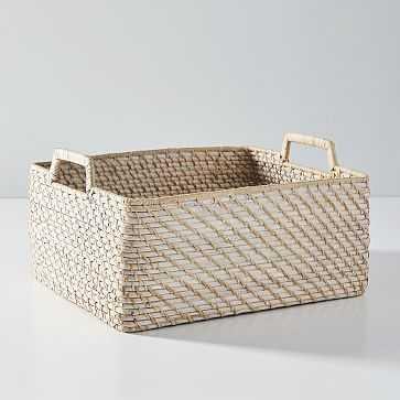 Modern Weave, Harvest Basket, Whitewash, Set of 2 - West Elm