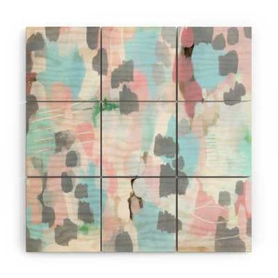 """Vintage Quilt by Laura Fedorowicz - Wood Wall Mural3' X 3' (Nine 12"""" Wood Squares) - Wander Print Co."""