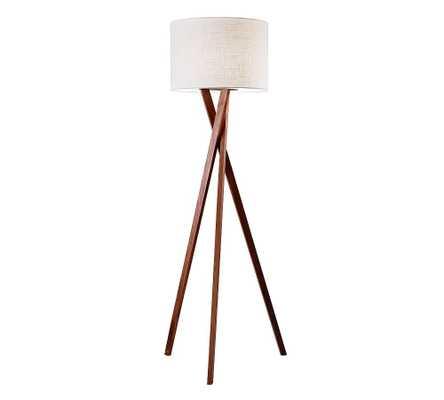 Genoa Wooden Floor Lamp, Walnut - Pottery Barn