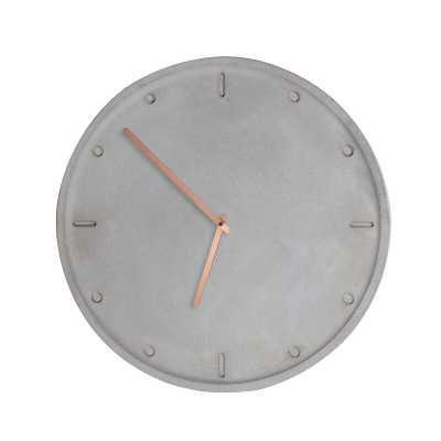 "Camino Clara 17.3"" Wall Clock - Perigold"