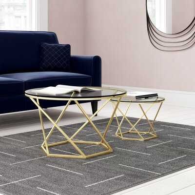 Adrianna Frame Bergeron 2 Piece Coffee Table Set - Wayfair