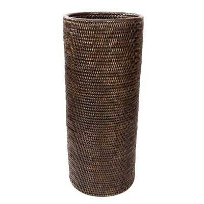 Nica Rattan Round Umbrella Basket - Wayfair