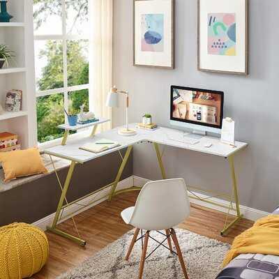 L-shaped Computer Corner Desk - Wayfair