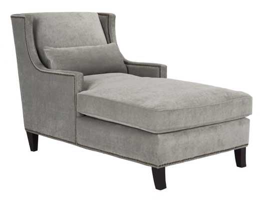 Vitali Studded Chaise - Grey - Arlo Home - Arlo Home