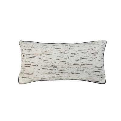 Donna Sharp Birch Bear Ivory, Black Polyester 11 in. x 22 in. Rectangular Throw Pillow, Ivory Black - Home Depot