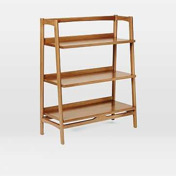 Mid Century Bookshelf - Low Wide, Acorn Finish - West Elm