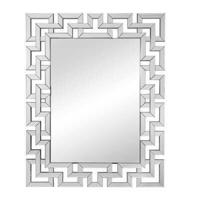 Ornate Geometric Wall Mirror - Wayfair