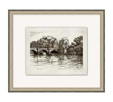 "Bridges of the Seine 2 Framed Print, 20"" x 17"" - Pottery Barn"