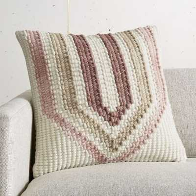 """18"""" Allium Chunky Yarn Pillow with Feather-Down Insert - CB2"""