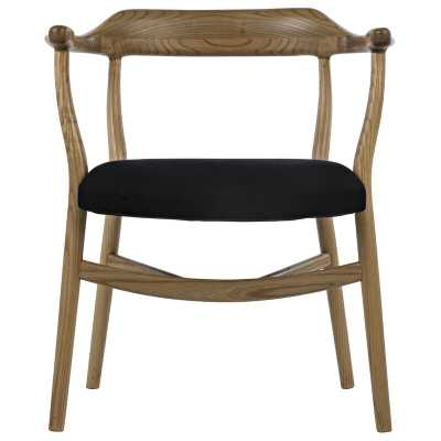 Noir Rey Solid Wood Arm Chair Color: Brown - Perigold